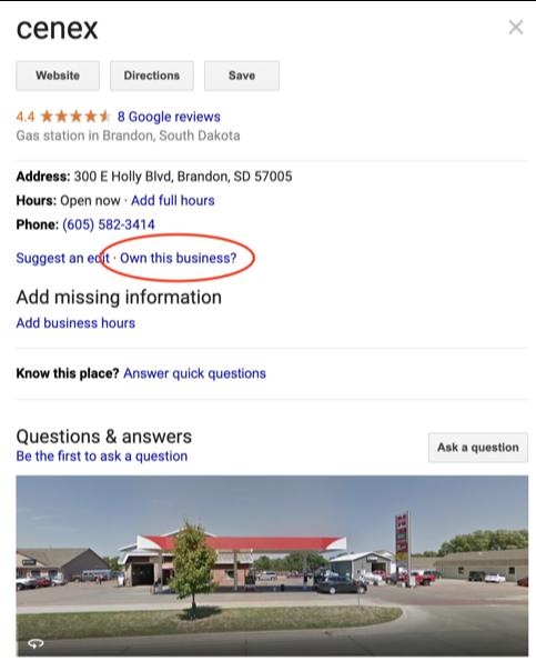 google mybusiness - claim your business